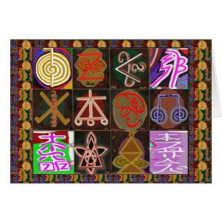 REIKI  Karuna Healing Symbols - Prayer text inside Greeting Card