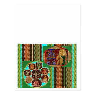 REIKI Karuna Healing Symbols Vintage CARE GIFTS 99 Postcard