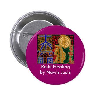 REIKI Main Healing Symbols 6 Cm Round Badge