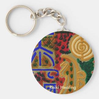 REIKI Main Healing Symbols Basic Round Button Key Ring
