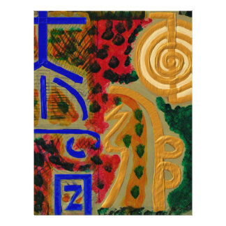 REIKI Main Healing Symbols 21.5 Cm X 28 Cm Flyer