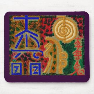 REIKI Main Healing Symbols Mouse Mat