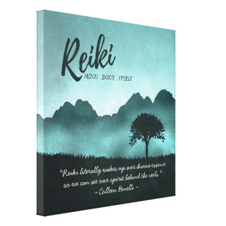 Reiki Master and Yoga Mediation Instructor Quotes Canvas Print