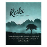 Reiki Master and Yoga Mediation Instructor Quotes Poster
