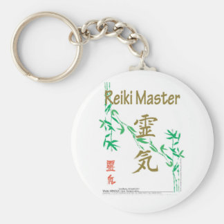 Reiki Master Basic Round Button Key Ring