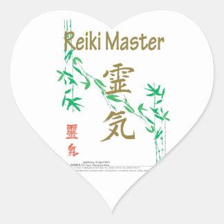 Reiki Master Heart Sticker