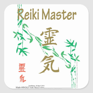 Reiki Master Square Sticker