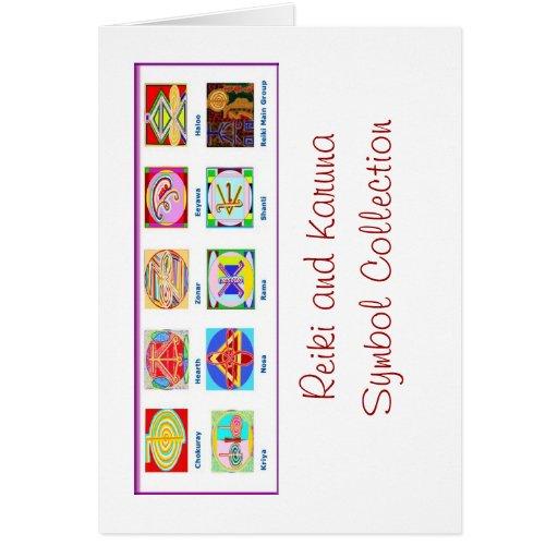 Reiki Master Tools - Symbols n Giveaways Greeting Card