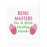 Reiki Masters Do It with Healing Hands Post Cards