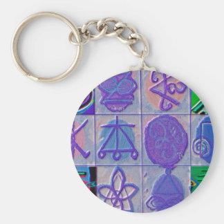 Reiki n Karuna Healing Sign 12    V24 Basic Round Button Key Ring