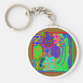 REIKI n Karuna Healing Signs Basic Round Button Key Ring