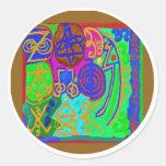 REIKI n Karuna Healing Signs Round Sticker