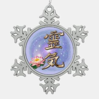 Reiki Pewter Snowflake Decoration