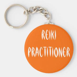 Reiki Practitioner Basic Round Button Key Ring