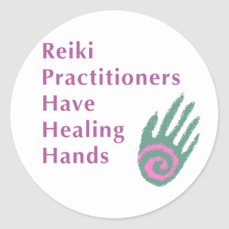 Reiki Practitioners Have Healing Hands Classic Round Sticker