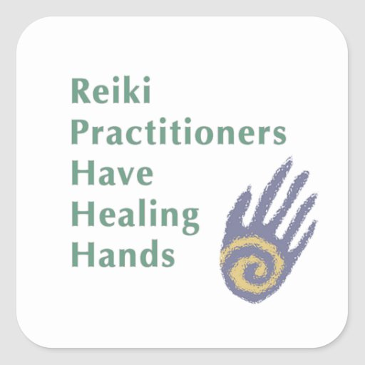 Reiki Practitioners Have Healing Hands Stickers