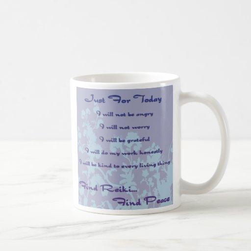 Reiki Principles Blue Mugs