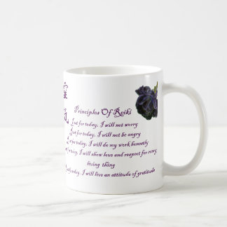 Reiki Principles Just For Today Basic White Mug