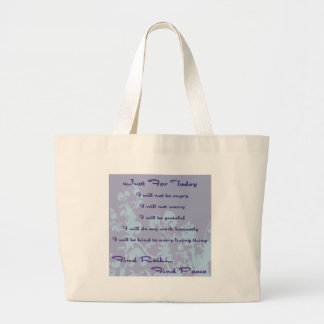 Reiki Principles Large Tote Bag