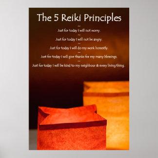 Reiki Principles with Luminarias Poster