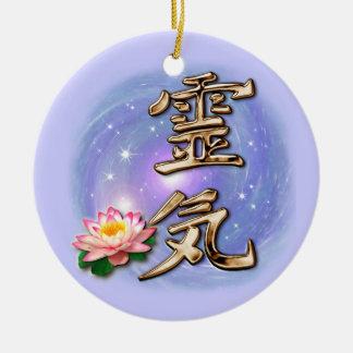 Reiki Round Ceramic Decoration
