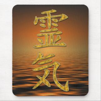 REIKI Symbol gold + ocean sunrise Mouse Pad