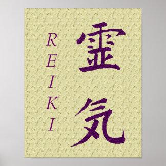Reiki Symbol In Purple Poster