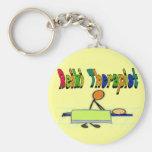 Reiki Therapist--Stick People Design--Watercolor Keychain