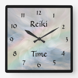 Reiki Time Square Wall Clock