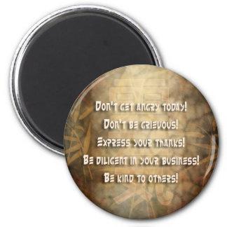 REIKI Usui Principles 6 Cm Round Magnet