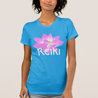 """""""Reiki"""" with a pink lotus blossom T-Shirt"""