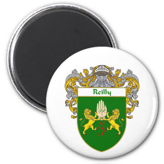 Reilly Coat of Arms (Mantled) 6 Cm Round Magnet