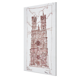 Reims Cathedral | Champagne Region, France Canvas Print