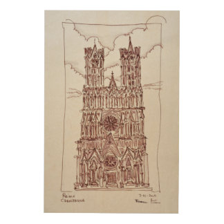 Reims Cathedral | Champagne Region, France Wood Wall Art