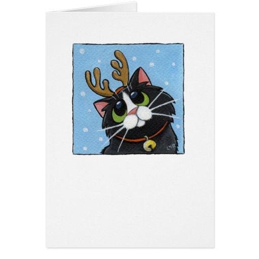 Rein-cat - Christmas Cat Card