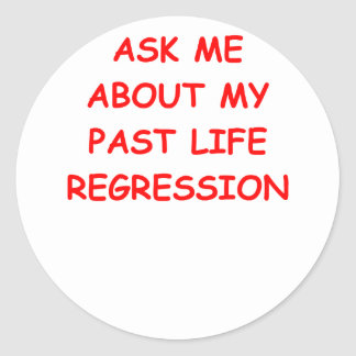 reincarnation round sticker