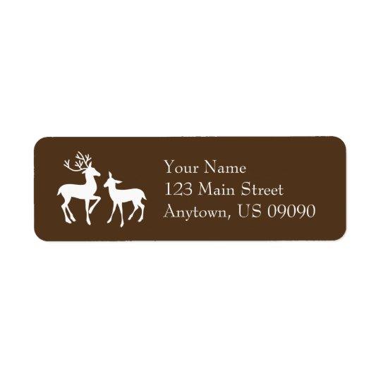 Reindeer Address Labels (Brown)