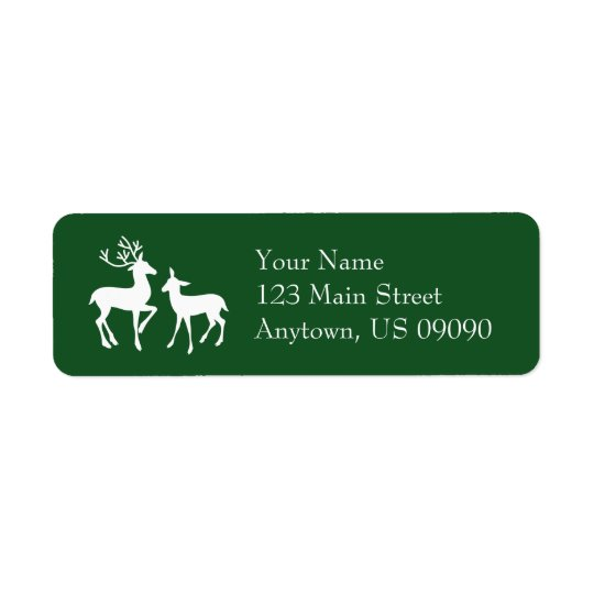 Reindeer Address Labels (Evergreen)