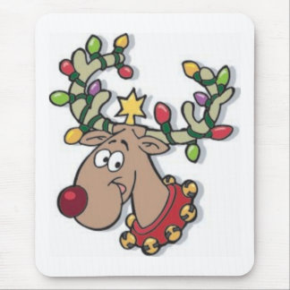 Reindeer and Lights Mouse Pad