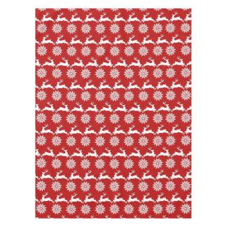 Reindeer and Snowflake Christmas Table Cloth Tablecloth