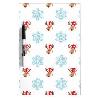 Reindeer and Snowflakes Dry Erase Board