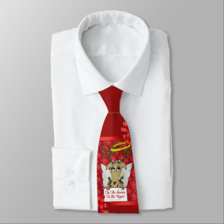 Reindeer Angel Tis The Season to Be Vegan Tie