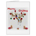 reindeer Basenji Christmas card