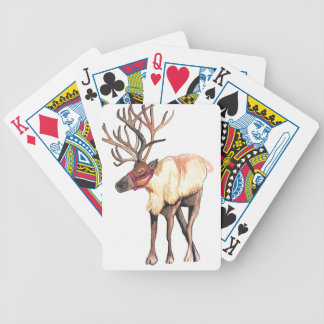 Reindeer Bicycle Playing Cards