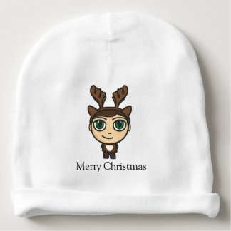 Reindeer Boy Cartoon Character Baby Beanie Hat