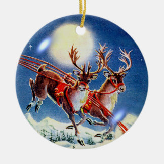 REINDEER BUBBLE by SHARON SHARPE Christmas Ornament