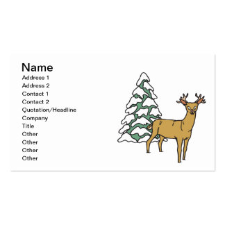 Reindeer Double-Sided Standard Business Cards (Pack Of 100)