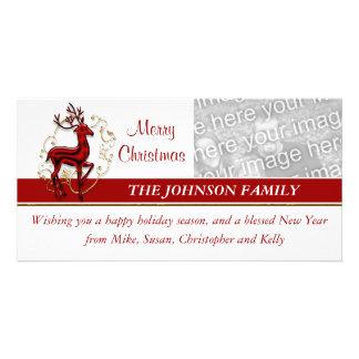 Reindeer business family photocard card
