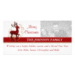 Reindeer business family photocard personalized photo card