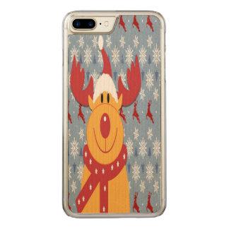 Reindeer Carved iPhone 8 Plus/7 Plus Case